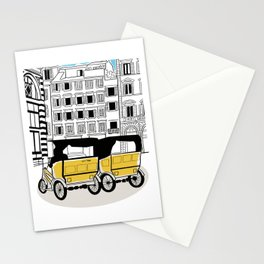 Florence Italy city tour taxi cars Stationery Cards