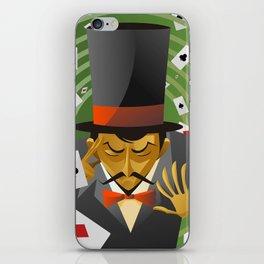 top hat magician poker cards magic trick iPhone Skin