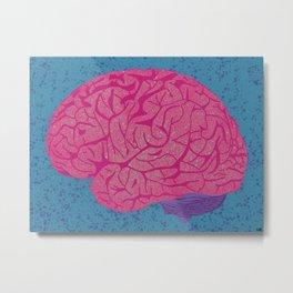 Abstract Brain Metal Print
