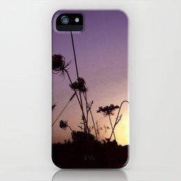 Wildflowers Sunset iPhone Case