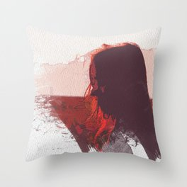 Sunset Girl Throw Pillow