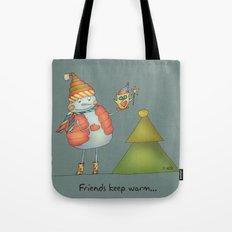 Friends keep warm - greyish Tote Bag
