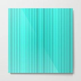 Bright turquoise stripes . Metal Print
