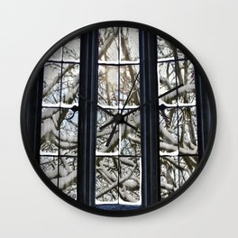 Winter Window Wall Clock