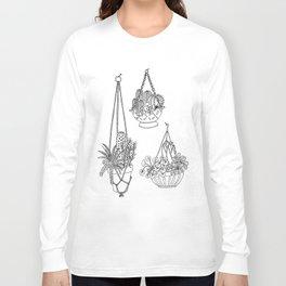 macramé plant hanger.  Long Sleeve T-shirt