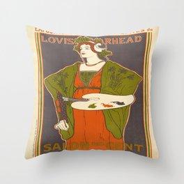 Vintage poster - Louis Rhead Throw Pillow