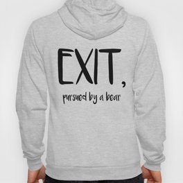 Exit, pursured by a bear - Shakespeare Hoody