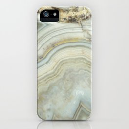 White Agate iPhone Case
