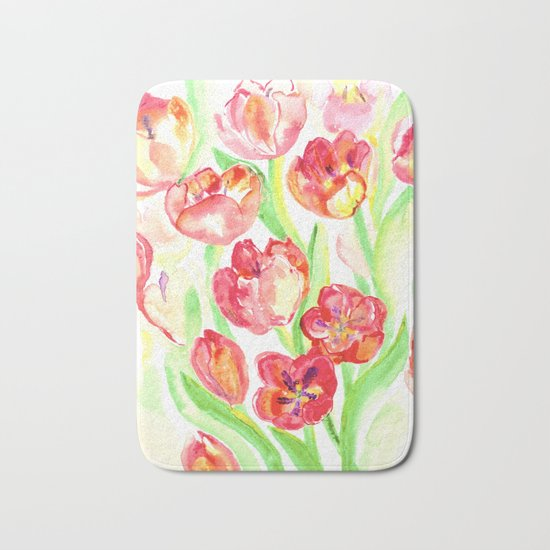 Mothers Day Tulips Bath Mat