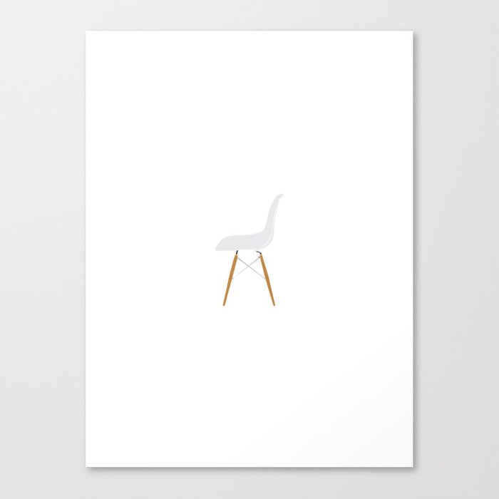 Eames DSW chair Canvas Print
