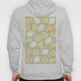 Lemons On Turquoise Background Hoody