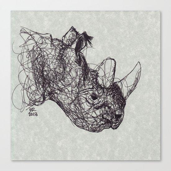 Reginald Rhinoceros Canvas Print