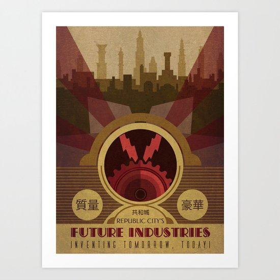 Future Industries Advertisement Art Print