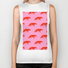 Vintage Cheetahs in Coral + Red Biker Tank