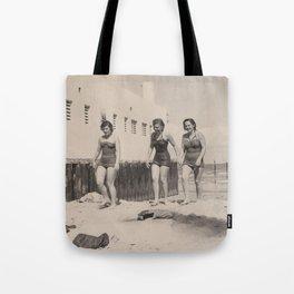 Three Girls on the Beach Tote Bag