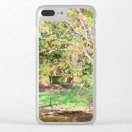 Hickory Ridge Pond Clear iPhone Case