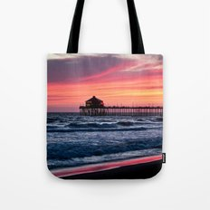 Surf City Sunsets   8/30/15   Huntington Beach California Tote Bag