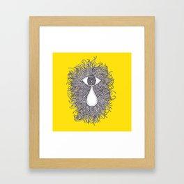 Crazy Eye Drop; Yellow  Framed Art Print