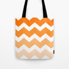 Ombre Chevron- Dreamsicle Tote Bag