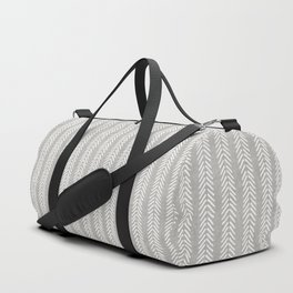 Mud cloth - Grey Arrowheads Duffle Bag