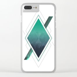 Abstract Diamond Clear iPhone Case