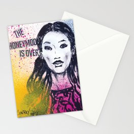 The Honeymoon Is Over Stationery Cards