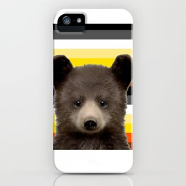 Bear Cub for nature lovers  iPhone Case