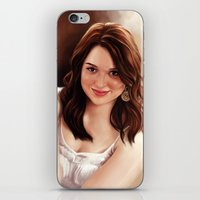 emma stone iPhone & iPod Skins featuring Emma Stone by Chanuka Hemachandra
