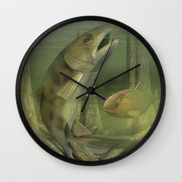 Backyard Fishing Wall Clock