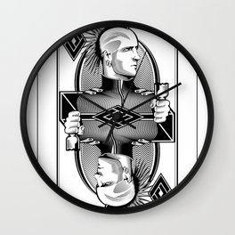 Punker Card Wall Clock