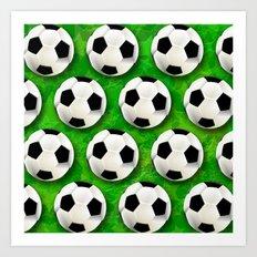 Soccer Ball Football Pattern Art Print
