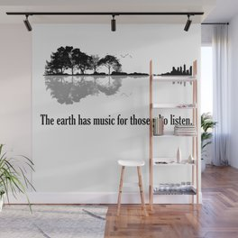 The Earth Has Music For Those Who Listen Guitar Wall Mural