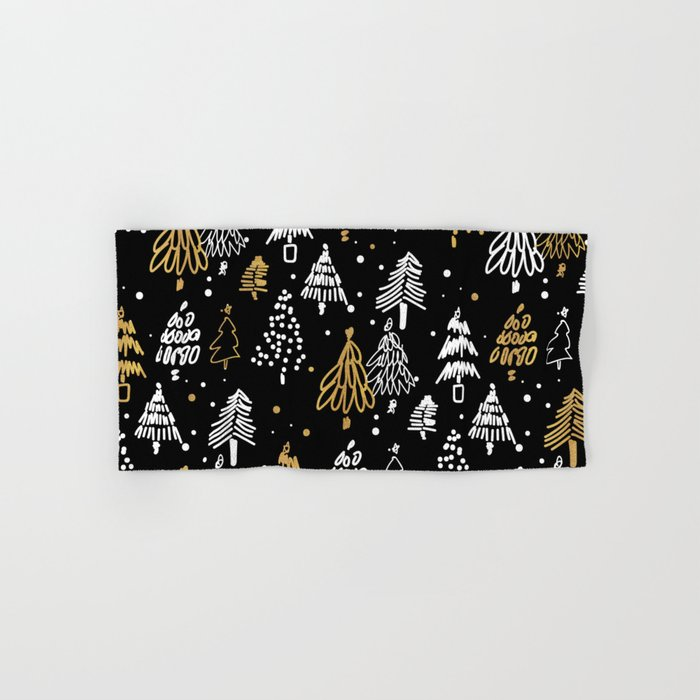 Christmas Tree Pattern Hand & Bath Towel