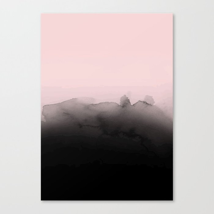 Pink is the new black Canvas Print