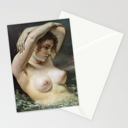 The Woman in the Waves by Gustave Courbet, 1868 Stationery Cards