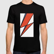 Bowie Tribute Mens Fitted Tee MEDIUM Black