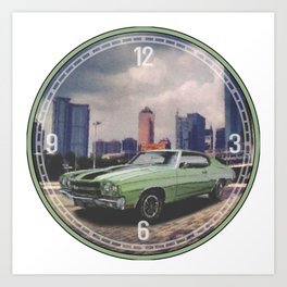 1970 Chevrolet Chevelle Decorative Wall Clock Art Print