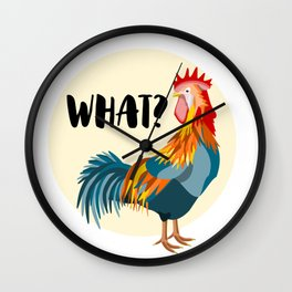 Rude Rooster Wall Clock