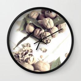 Food still life, macro photography, fine art for kitchen decor, home, interior design Wall Clock