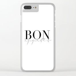 bon appetit, french quote,french poster,kitchen decor,kitchen sign,bar decor,food print,typography Clear iPhone Case