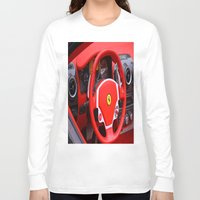 ferrari Long Sleeve T-shirts featuring Ferrari Fizz by Scattered_Stars
