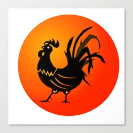 Year of the Rooster Icon Canvas Print