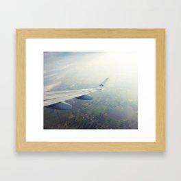 High above me Framed Art Print