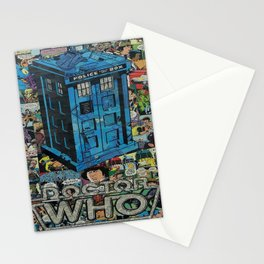 Tardis doctor who comic Stationery Cards