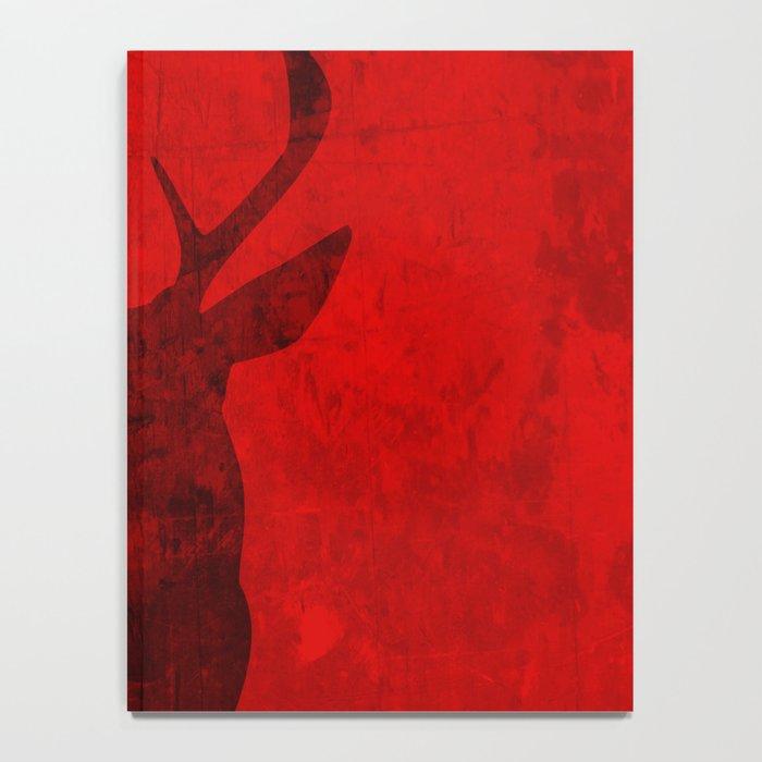 Red Deer Stag Design Notebook
