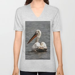 The Sea Breeze Blows The Pelican Where He Wants To Go Unisex V-Neck