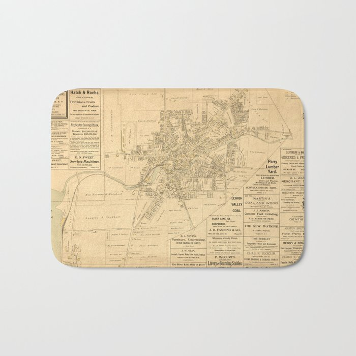 Village of Perry, Wyoming County, New York (1902) Bath Mat