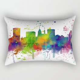 Baltimore Skyline Rectangular Pillow