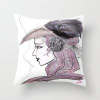 headdress Throw Pillows featuring Headdress by Avedon Arcade