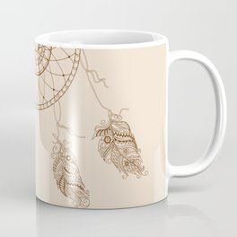 dream catcher with decorated feathers Coffee Mug